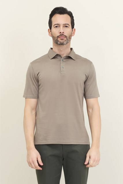 Ballantyne Short sleeve beige Makò polo