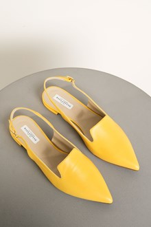 Ballantyne Golden leather flat shoes