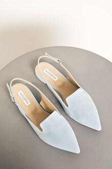Ballantyne Light blue leather flat shoes