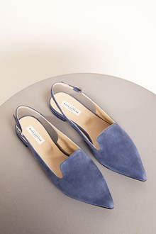 Ballantyne Blue leather flat shoes