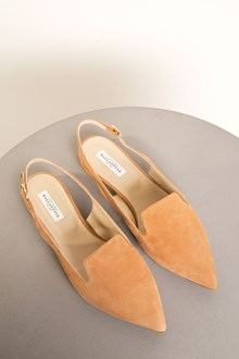 Ballantyne Brown leather flat shoes