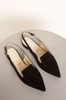 Ballantyne Black leather flat shoes