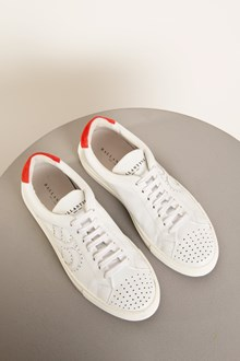 Ballantyne White and red leather sneakers