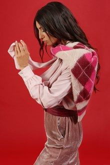 Ballantyne CREPE DE CHINE SHIRT IN LIGHT PINK