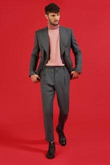 Ballantyne Pantalone grigio carbone con pinces