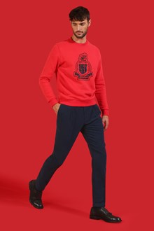Ballantyne Navy black trousers with darts