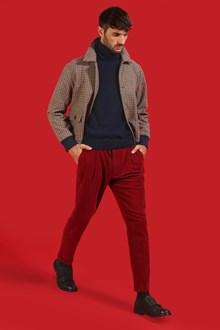 Ballantyne Pantalone rosso con pinces