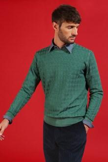 Ballantyne Pullover in lana merinos con lavorazione a rombi