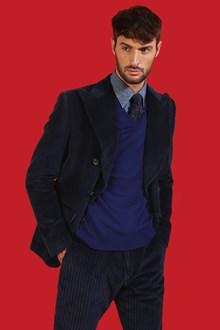 Ballantyne Pullover in cashmere color Regal Blu