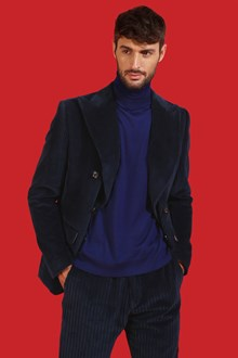 Ballantyne Dolcevita in lana merinos leggera color Mare