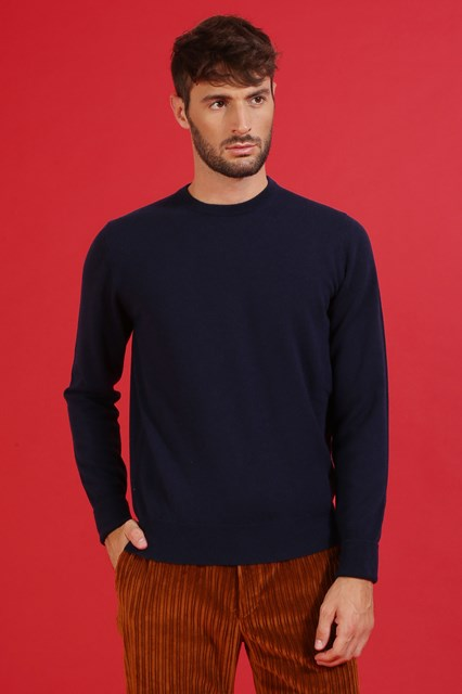 Ballantyne Pullover in cashmere color Nero Navy
