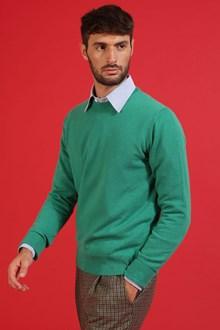 Ballantyne Pullover in cashmere verde