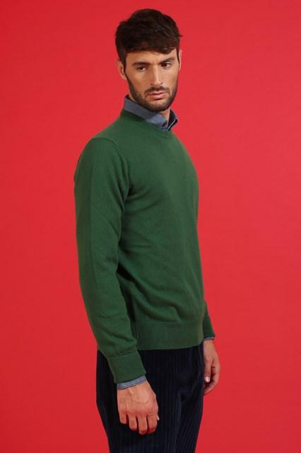 Ballantyne Pullover in cashmere Verde Prato