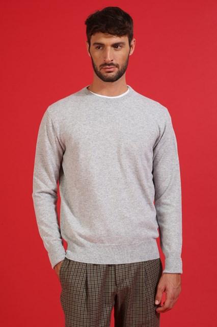 Ballantyne Pullover in cashmere color Grigio Ghiaia