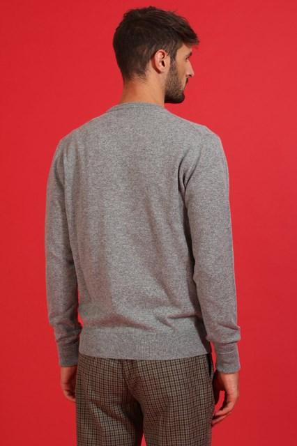 Ballantyne Pullover in cashmere color Grigio Zinco
