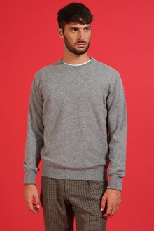 Ballantyne Zinco grey color cashmere pullover