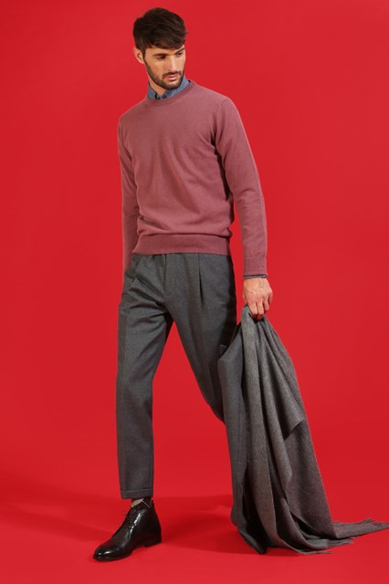 Ballantyne Pullover in cashmere color Wilde Rose