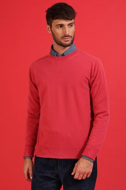 Ballantyne Pullover in cashmere rosso