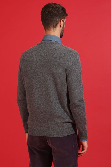 Ballantyne Pullover New Classic Diamond grigio scuro