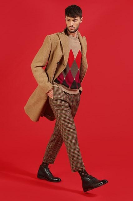 Ballantyne Pullover New Classic Diamond color cammello