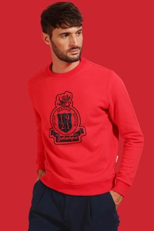 Ballantyne Ballantyne printed sweatshirt in red