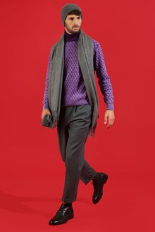 Ballantyne Purple braided turtleneck