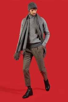 Ballantyne Grey mouliné turtleneck