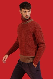 Ballantyne Red mouliné turtleneck