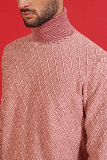 Ballantyne Dolcevita con lavorazione a rombi e tintura rosa