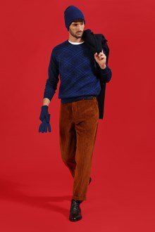 Ballantyne Tweed tartan pullover in blue