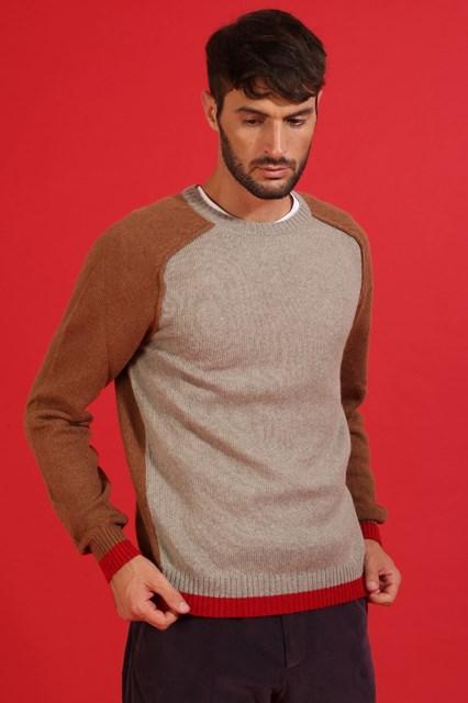 Ballantyne Pullover in lana alpaca a contrasto