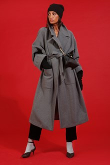 Ballantyne Cashmere wool wrap overcoat