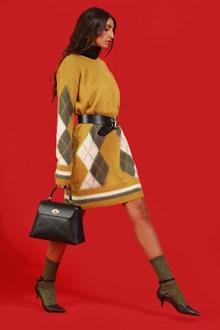 Ballantyne Mohair maxi pullover with Argyle intarsia