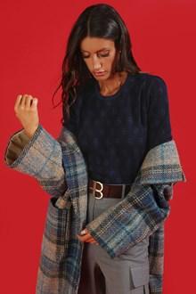Ballantyne Monogram Lurex short sleeve crew-neck pullover