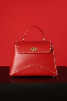 Ballantyne Diamond Small studded bag in Ruby color