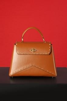 Ballantyne Diamond Small studded bag in camel color