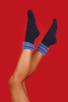 Ballantyne Calzini donna blu e bluette
