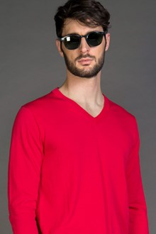 Ballantyne MAGLIA IN COTONE ULTRALIGHT RED FIRE