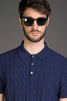 Ballantyne MICRODIAMOND POLO-STYLE SWEATER