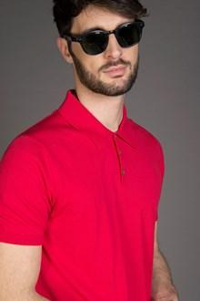 Ballantyne POLO IN MAGLIA DI COTONE ULTRALIGHT RED FIRE