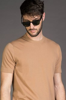 Ballantyne ULTRALIGHT COTTON KNITTED T-SHIRT IN SUEDE