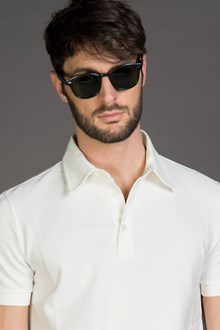 Ballantyne PIQUET POLO SHIRT IN WHITE