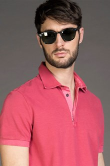 Ballantyne PIQUET POLO SHIRT IN VENICE RED