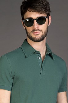 Ballantyne PIQUET POLO SHIRT IN GREEN BOTTLE