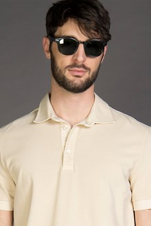 Ballantyne PIQUET POLO SHIRT IN BEIGE CREAM