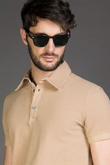Ballantyne PIQUET POLO SHIRT IN SUEDE