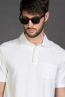 Ballantyne SPONGE POLO SHIRT IN OPTICAL WHITE