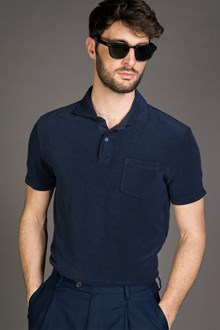 Ballantyne POLO IN SPUGNA BLU SCURO