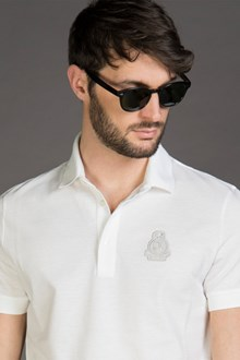 Ballantyne POLO IN PIQUET DI COTONE CON PATCH NEW WHITE