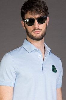 Ballantyne PIQUET POLO SHIRT WITH PATCH IN BLUE SKY